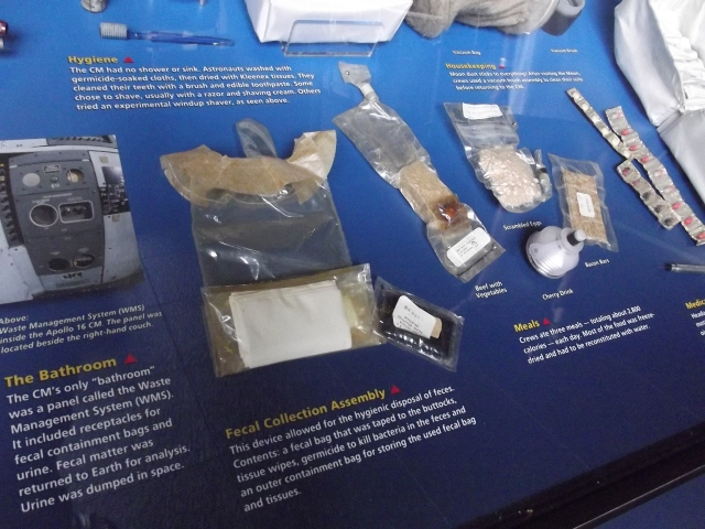 Poop bags, food, wet wipes, and more for the astronauts.