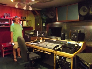 Tom in one of the control rooms of FAME!