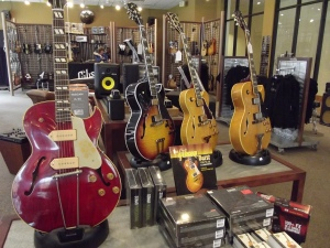 Visiting this guitar shop was like visiting a jewelry shop. They were beautiful and AWESOME!