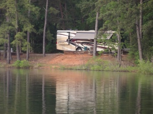 Reflecting Motorhome at Lake Hartwell, SC.