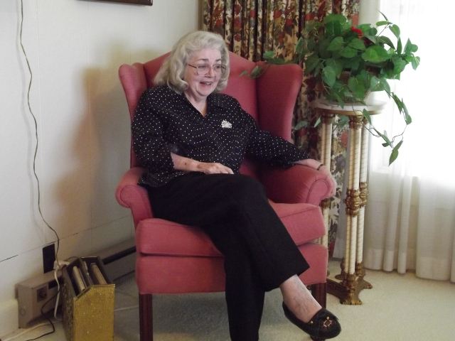 Gorgeous Anita sitting in one of her mother's chairs at the farm.
