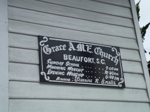 Sign for African American Church
