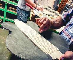 Creating guitars by hand! We could not believe it!