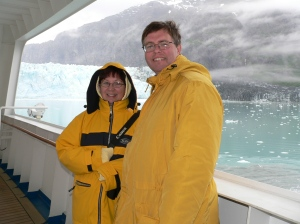 On a ship in front of Hubbard Glacier!