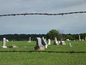 Time has erased many of the names on the tombstones. They have been forgotten?