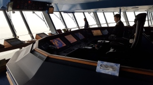 The bridge is high-tech with sonar and radar and much, much, more!