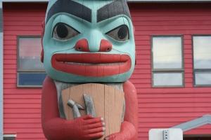 Tlingit Totem in Hoonah.
