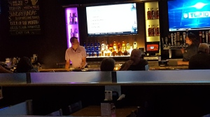 Here's John managing everything from behind the bar!