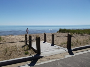 A glimpse of Kohler-Andrea Park on Lake Michigan! What a sight!