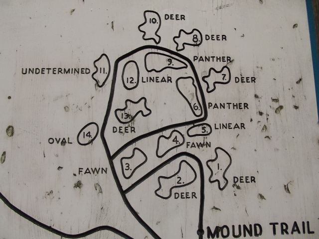 Here is a plat of the site with outlines of the animal mounds!