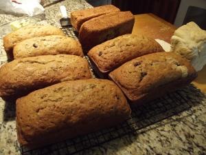Nelta baked nine loaves of bread! Has anyone ever baked nine loaves?