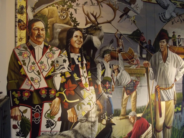 Remember First Nations people who owned Lake Superior.  This is a mural at the Visitor's Center!