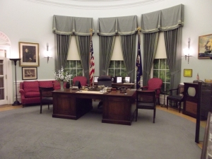 This was Truman's office. Where are the sofas?