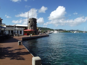 The boardwalk in Christiansted that we loved!