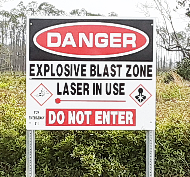 Near Panama City Blasting Area